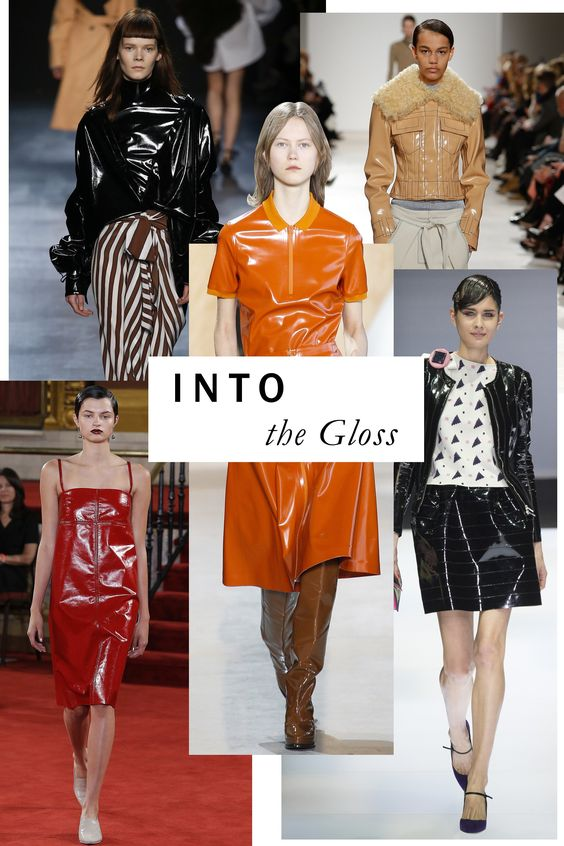 It's patently obvious—high-shine finishes are in for Fall. These wet-looking vinyls and leathers stormed the runway, to results alternately fetish-chic and artily offbeat.