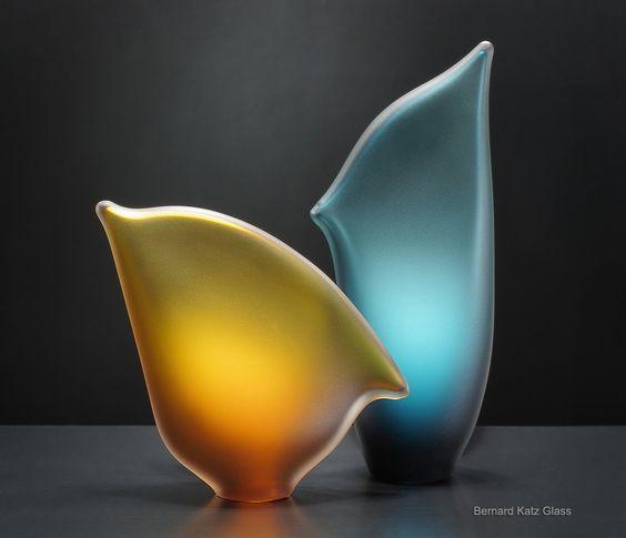 One of a Kind Glass Sculpture Beach Horizon by Bernard Katz #artglass #sculpture #handblown
