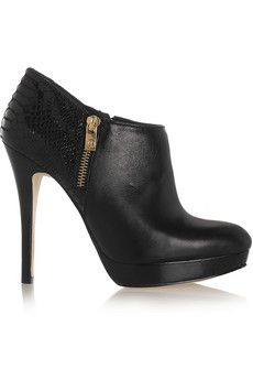 MICHAEL Michael Kors  York leather ankle boots -- GAH!