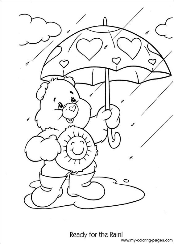 Care Bears Coloring-054 | Crafty (80's Care Bears ... A Coloring Page Of A Heart