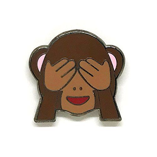 Pinmaze Collections Emoji See No Evil Cheeky Covering Eye Https Www Amazon Com Dp B01lzpo5ix Ref Cm Sw R Pi Trendy Accessories Enamel Lapel Pin Tshirt Bag