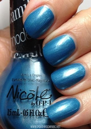 Nicole by OPI Late Blu-mer nail polish