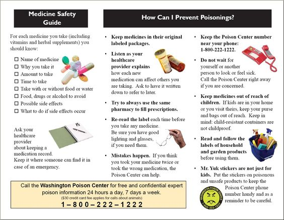 Wapc Medication Safety Brochure Page   Education Materials