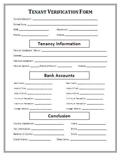 Doc24963232 Landlord Verification Form Tenant Verification – Sample Employment Verification Form