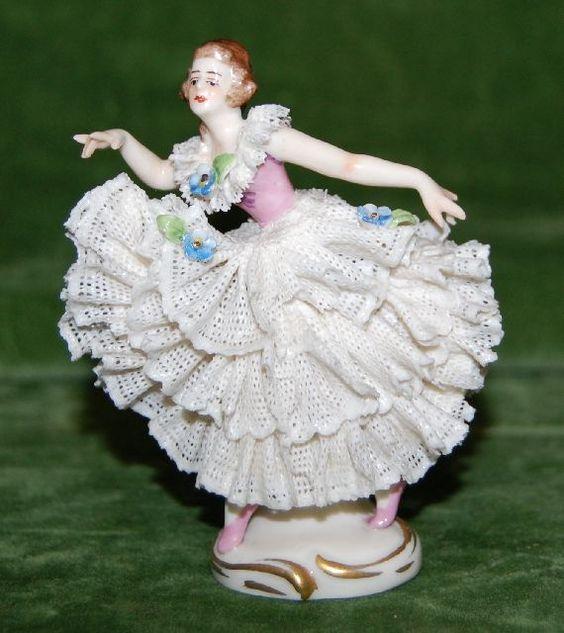 B204/ Porzellan FIGUR Porzellanfigur Ballerina Fürstenberg ? alt