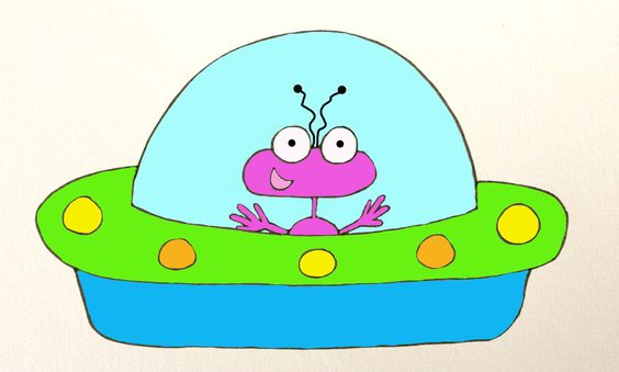 Alien with UFO - LOVE making clipart!