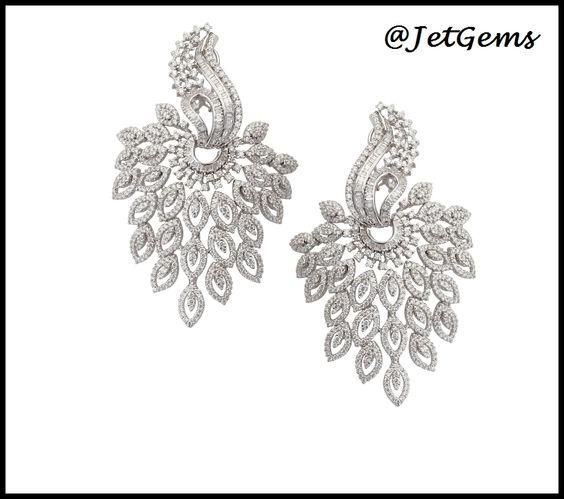 #JetGems #elegant #design #exquisite  #precious #diamonds #earrings #jewelry #beautiful #exclusive #gorgeous #intricate #jewellery #Indian