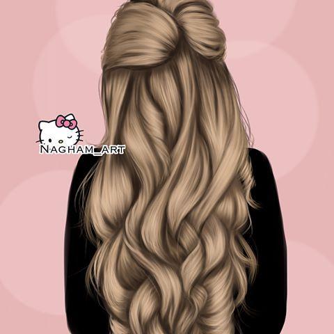 شو لون شعرك انا بني رسمة رقم 4 رسمتها بساعه ونص تقريبا عشان التحدي تحدي 30رسمه فش Meninas De Costas Sereia Desenho Menina Tumblr Desenho