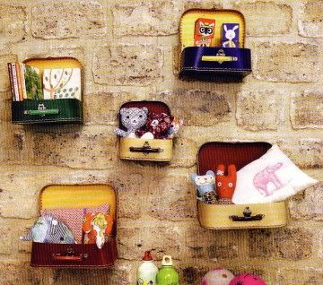 small suitcases or altoid tins