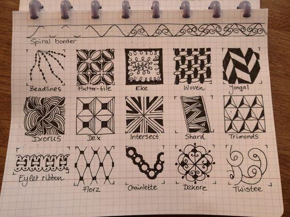 TANGLE PATTERNS PAGE 8 OF 19- #doodles #zendoodle # doodle-----Tekenpraktijk De Innerlijke Wereld: Tangle-patronen