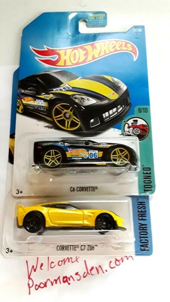 Dtx51 Hot Wheels Dtw79 Mattel 2015 Corvette C7 Z06 Yellow Black