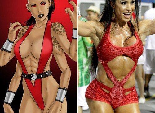 Internautas comparam Gracyanne Barbosa a Sheevva de Mortal Kombat