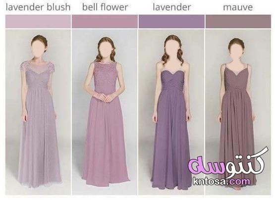 اسماء درجات الالوان الصحيحه تعرفى على الالوان التى تناسبك واسمائها اعرفي كل درجات الألوان بالاسم Dresses Wedding Dresses Bridesmaid Dresses