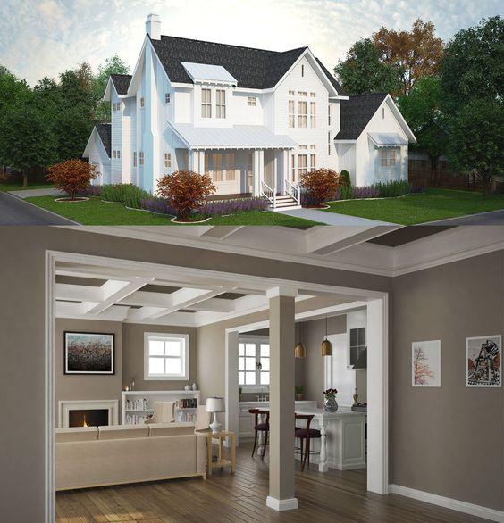 Plan TF 4 Bed Modern Farmhouse Plan