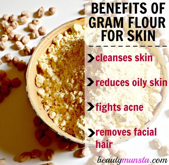 Benefits of gram flour for skin