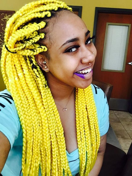 Neon Yellow Box Braids