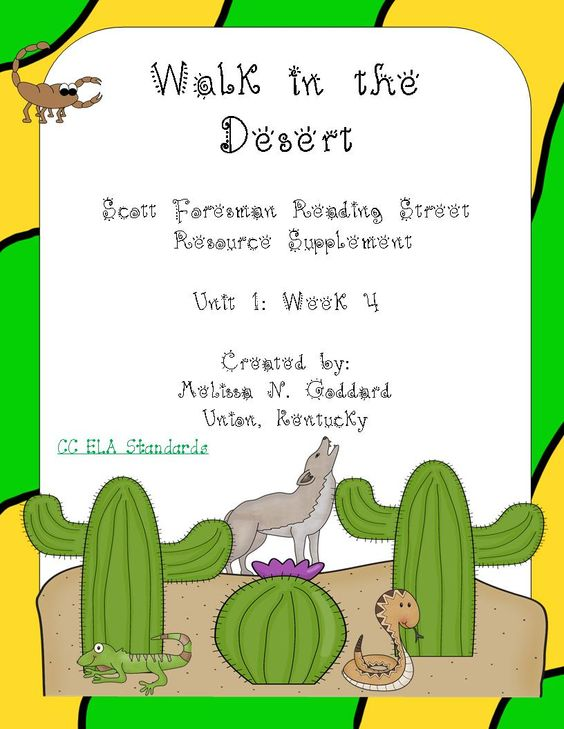 Springtime in the Desert (Free Unit Study and Lapbook) for ...