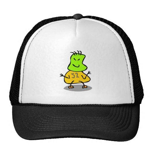 Cute Kids Robot,Green Tan,Number 52. Cap Caps.