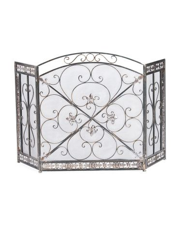 Decorative Metal Fire Screen