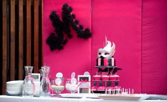 decoração de mesas baile de mascaras - Pesquisa Google