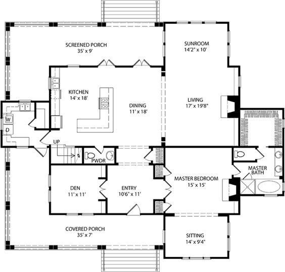Double Hearth Cottage   Allison Ramsey Architects  Inc    Southern    Southern Floorplans  House Plans Southern Living  Homes Floorplans  Cottage Southern  Cottage Simple  Houseplans   Cottage Houseplans