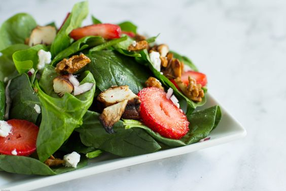 BBQ Chicken Salad with Strawberries