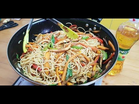 How To Prepare Chicken Stir Fry Spaghetti Special Guest From Power Oil Youtube Fried Spaghetti Chicken Stir Fry Chicken Stir
