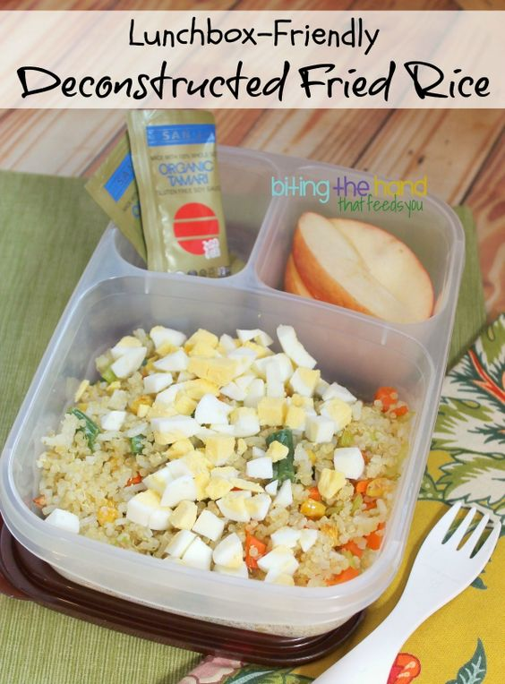 Lunchbox-Friendly Deconstructed Fried Rice from Biting the Hand That ...