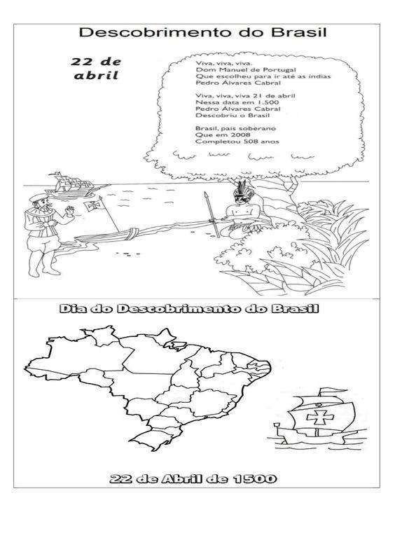 Title Slide of Descobrimento do brasil desenho