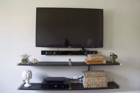 30 Exclusive Wall Shelf Ideas In 2020 Tv Wall Shelves Wall Mounted Tv Wall Mount Tv Shelf