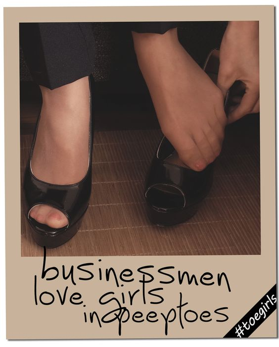 businessmen love secretaries in peeptoes