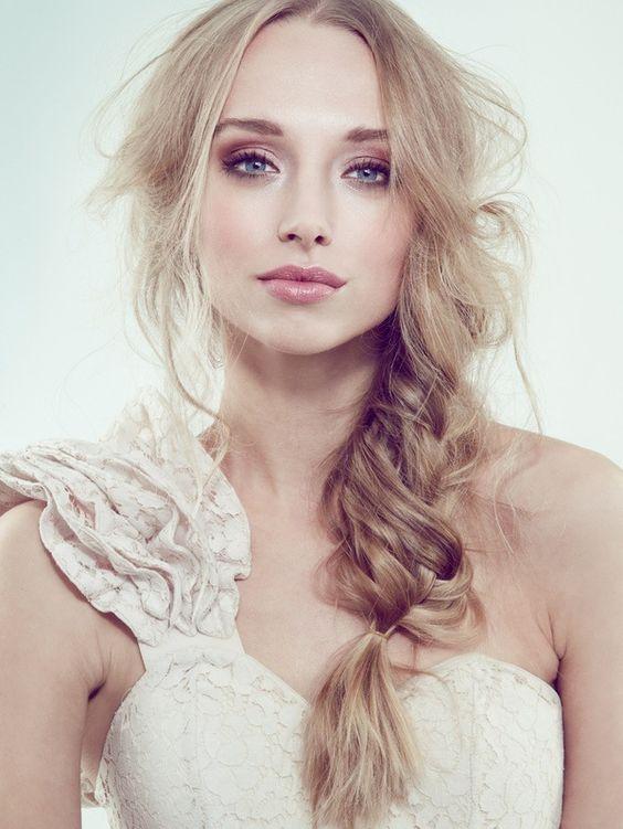 Messy braid - boho chic bridal hair