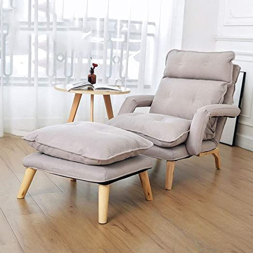 Qerntpey Chairs Sofa Chair Modern Relax Lounge Armchair Recliner With Footrest Stool Ottoman For Living Room Relaxi Single Sofa Sofa Bed Brown Folding Sofa Bed