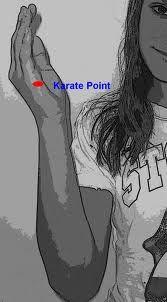 Im englischsprachigen Raum wird dieser Punkt gerne als Karate Punkt präsentiert damit ihn sich die Klienten leichter merken können. Ich persönlich bleibe lieber bei der klassischen Bezeichnung aus der Energetischen Psychologie. Nichts desto trotz fand ich dieses Chart interessant und möchte es Ihnen nicht vorenthalten.
