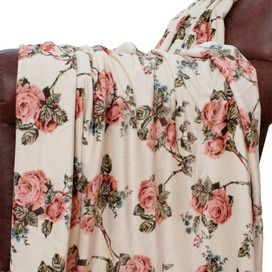 Vintage floral throw, so pretty...