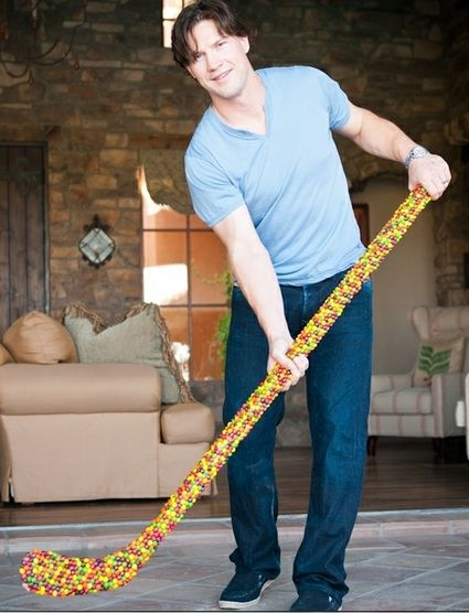 Phoenix Coyotes captain Shane Doan has a stick made of Skittles.
