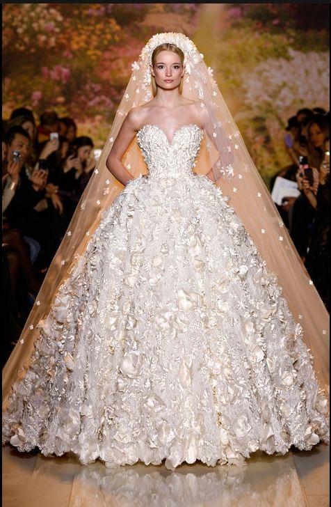 Fabulous wedding gown.