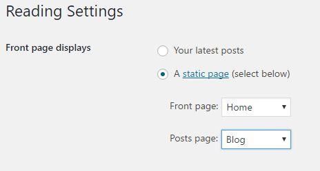 custom home page