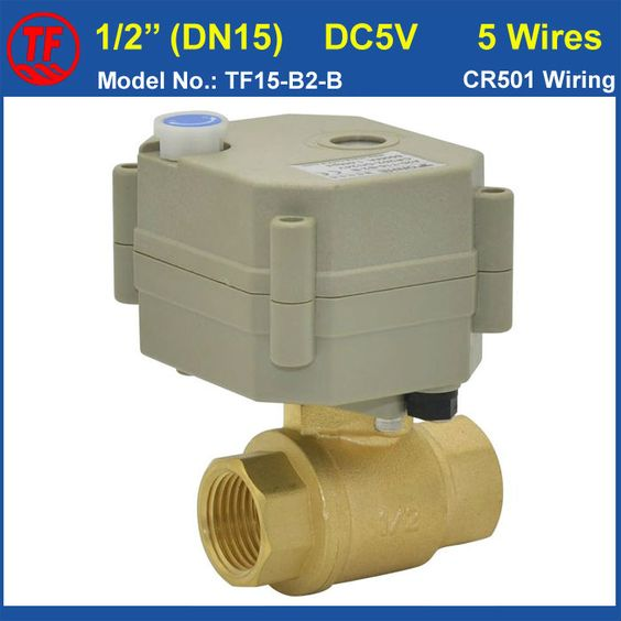 Tf15 B2 B Npt Bst 1 2 Brass Dn15 Motorized Valve With Manual Override Dc5v 5wires With Signal Feedback For Flow Control On Aliexpress Valve Brass Metal Gear