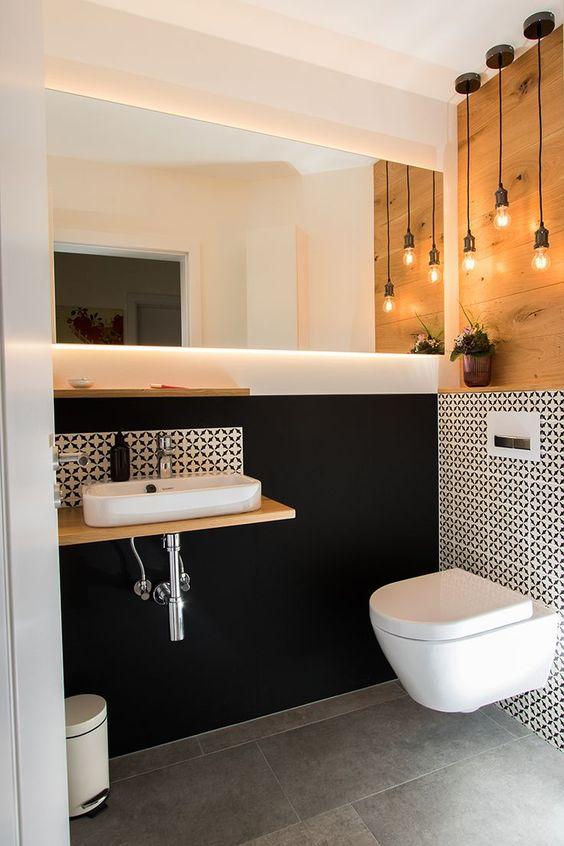 Gaste Wc Mit Stil Gaste Wc Stil Badezimmer Badezimmerspiegel