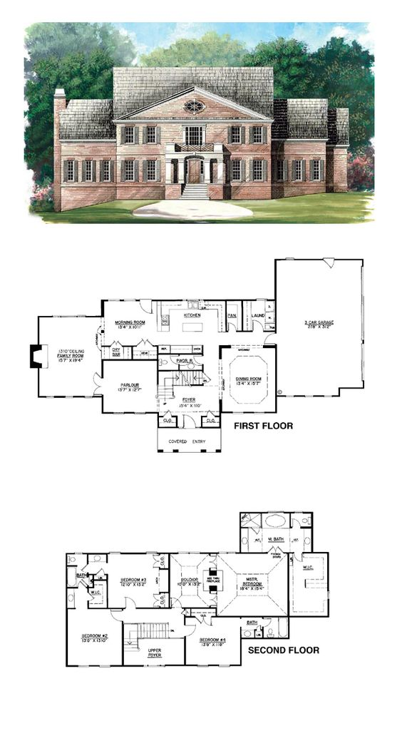 Colonial Greek Revival House Plan 98229 House Plans The