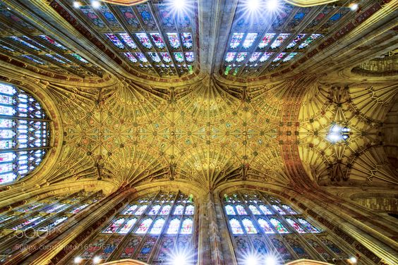 Main ceiling Sherborne Abbey by chrisspracklen