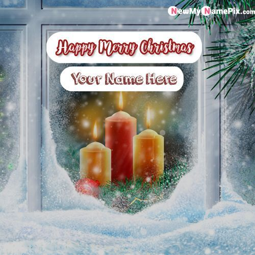 Happy Merry Christmas Eve 2020 Christmas Eve Wishes Images With Name   Create Card Online