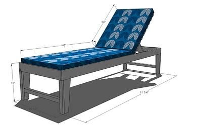 I want to make this diy furniture plan from ana for Build chaise lounge