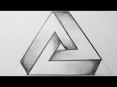 Increible Truco Como Dibujar Un Hoyo En 3d Paso A Paso How To Draw A 3d Hole Youtube Triangulo Imposible Triangulos Como Dibujar