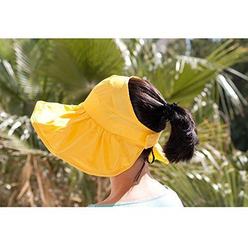 Verano damas y niñas sombrero para el sol verano plegable Flexible + Shapeable ala deformable borde ancho sombrero, sombreros para colas de caballo - un tamaño ajustable Womens sombrero Anti UV Sunbonnet (Yellow) Dazoriginal http://www.amazon.es/dp/B00WZ5F5AS/ref=cm_sw_r_pi_dp_Qa2Ovb1WNHFX7