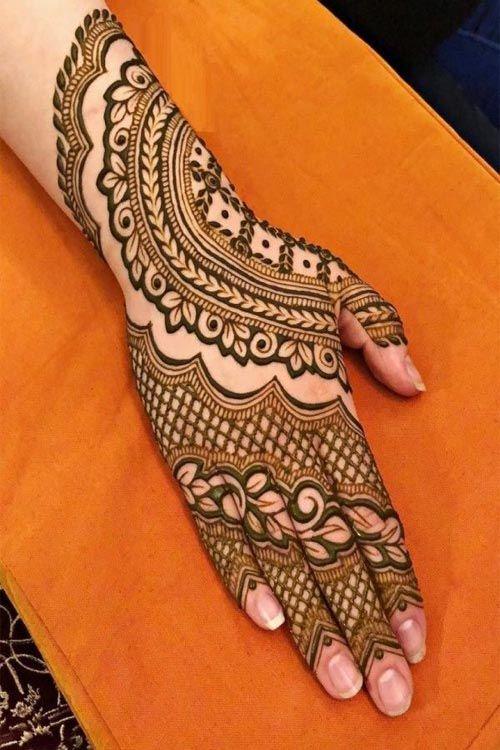 beautiful mehndi designs for left hand