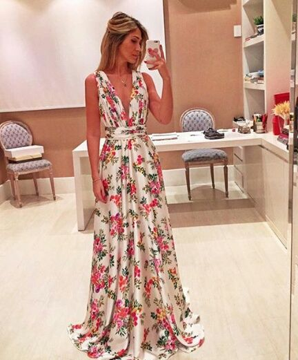 Imagem de desing, flowers, and long dress