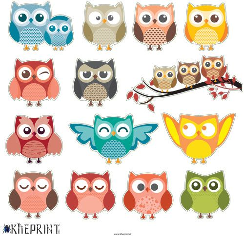 Stickers de buhos stickers infantiles stickers stickers for Stickers decorativos