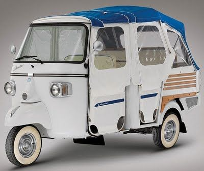 Piaggio Ape Calessino Happy Buggy. It's a Tuk Tuk you can buy! I want one!